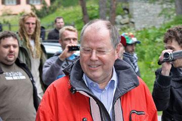 Bilderberger Peer Steinbrück, St. Moritz 2011