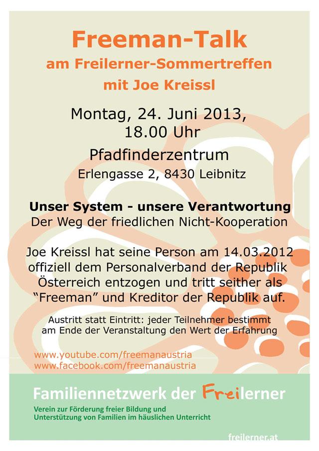 Freeman-Talk beim Freilerner-Sommertreffen 2013   Karfreitagsgrill ...